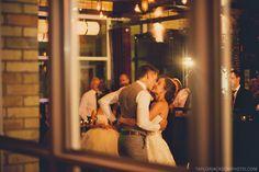 Bride and Groom. First dance. Taylor Jackson Photography. The Bauer Kitchen wedding venue. Restaurant wedding.