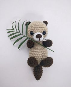 PATTERN: Crochet otter pattern amigurumi by TheresasCrochetShop
