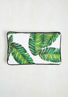Leaf the Fest to Me Pillow - Green, White, Novelty Print, Daytime Party, Beach/Resort, Summer