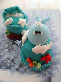 Pão de Mel decordo tema Fundo do mar Honey cake decorated theme Under the Sea