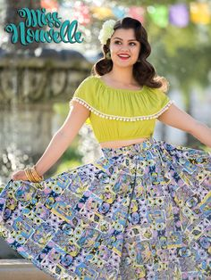 """Details Our """"Twirl Skirt"""" is meant for exactly that! With added fullness to mimic your favorite vintage circle skirts, we engineered the perfect fit for dancing or just posing pretty. Hitting below th"""