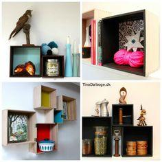 se hvordan man kan dekorere bogkasser, trækasser og opbevaringskasser på forskellige måder