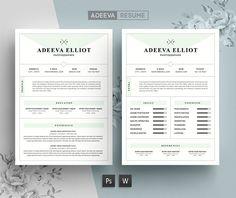 Modern Resume Template Elliot by AdeevaResume on @creativemarket