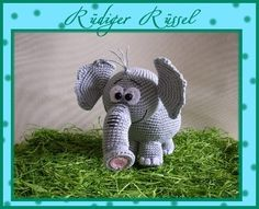 "Häkelanleitung Elefant ""Rüdiger Rüssel"""