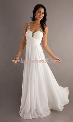 Two Shoulder White Long spaghetti strap Prom Dress 2013 with ruched bodice [Long,Two Shoulder,White,Prom Dress 2013] - $176.00 : Discount Dresses for Prom 2013,Up 50% Off
