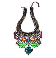 Bette Davis eyes necklace
