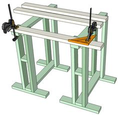 wood cutting station plans