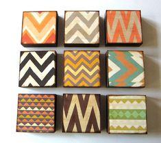 Zig Zag Art Blocks from Red Tile Studio.