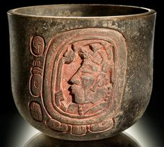 "Cup with the Inscription ""This is the Drinking Cup of K'ahk' Uht K'inich, King of Akankeh and Ball Player"" Maya, The National Museum of the American Indian Mayan Glyphs, Maya Civilization, Inka, Aztec Art, Mesoamerican, Mexican Art, Objet D'art, Ancient Artifacts, Ancient History"