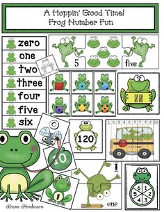 Frog Activities: The packet will help make learning and practicing: numbers skip counting by and counting backwards from 10 to 0 and simple addition & subtraction, greater & less than, tally marks, plus number words more interesting and fun. Counting Backwards, Skip Counting, Number Matching, Matching Games, Frog Activities, Tally Marks, Simple Addition, Number Words, Teaching Kindergarten