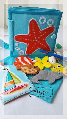 Мастерская Elifçe : Развивающая мини книжка Море/ Quitebook mini book Sea