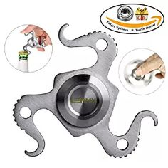 Fingertip Gyro Hand Spinner Fidget can be used as Bottle-opener,The Anti-Anxiety EDC Focus Toy for Kids & Adults(with 1 bearing as gift) Cool Fidget Spinners, Metal Fidget Spinner, Hand Spinner, Stainless Steel Metal, Fidget Toys, Reduce Stress, Bottle Opener, Kids Toys, Anxiety