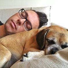A sleepy Saturday.... #naps #puppies #puggle #pugglesofinstagram