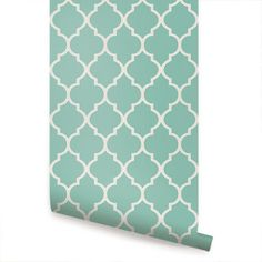 Moroccan Mint - Wallpaper - Simple Shapes