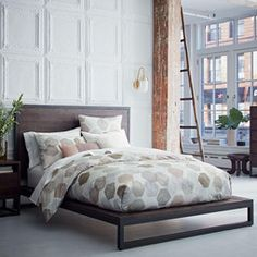 Roar + Rabbit Brass Geo Inlay Bed | West Elm | Bedroom | Pinterest |  Bedrooms, Master Bedroom And Apartment Living