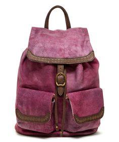 Look at this #zulilyfind! Purple Cozy Leather Backpack #zulilyfinds