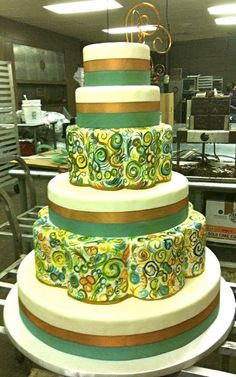 Frosted Art Bakery Wedding cake