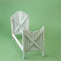 Use Stir Sticks To Make a Dollhouse Bed | Gardens, Stir sticks and Popsicles