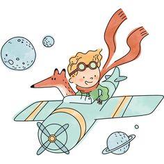 Kids Stickers: The Little Prince explorer Kids Stickers, Funny Stickers, Baby Illustration, Illustrations, Prince Drawing, Little Prince Party, Baby Art, Baby Decor, Disney Art