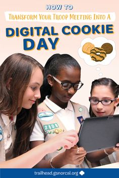 How to Transform Your Troop Meeting into a Digital Cookie Day Buy Girl Scout Cookies, Charitable Donations, Pinterest Design, Daisy Girl Scouts, Girl Scout Leader, New Adventures, Cookie Monster, Daisies, Troops
