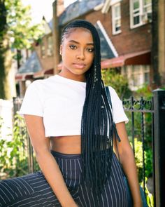 61 Totally Chic And Colorful Box Braids Hairstyles To Wear! Black Braided Hairstyles Updos, Urban Hairstyles, Box Braids Hairstyles, Black Girls Hairstyles, Cool Hairstyles, Protective Hairstyles, Black Girl Braids, Braids For Black Hair, Girls Braids