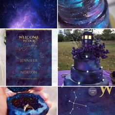 Galaxy Wedding Theme, Stars Wedding Theme Moodboard Inspiration #weddingdecor #weddinginspiration #weddingideas