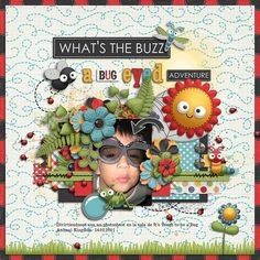 1. Second Shot | Vol.8 templates by Little Green Frog Designs 2. Bugging Out Kit and Stickers by Kristin Aagard