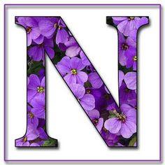 N Alphabet Purple