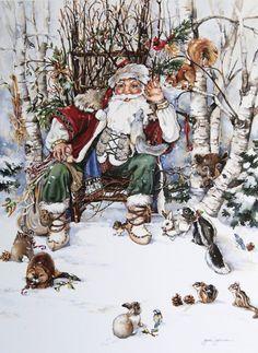 So sweet, I had no idea that Jodi Jensen  did Santa and sweet little woodland creature's