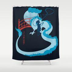 Spirited Away Shower Curtain Studio Ghibli Shirt Movies Funny