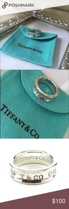 Tiffany & Co. Ring size 5 Proudly inscribed with the year Tiffany was founded, the Tiffany 1837® collection is defined by sleek curves and contours. This elegant ring embodies a timeless aesthetic. Tiffany & Co. Jewelry Rings
