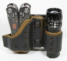 Ethos Ready Tool Package- Includes 300L Flashlight, Gerber multi-tool and Kydex/Carbon Fiber Holster. by EthosSurvival on Etsy