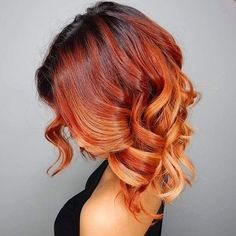 15 balayage with black roots, red and copper highlights - Styleoholic