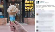 Pinned March 29th: #FREE ice cream cone the 8th at Ben & Jerrys - The #Coupons App