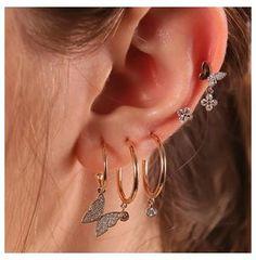 Ear Jewelry, Cute Jewelry, Jewelry Accessories, Jewelry Ideas, Trendy Jewelry, Jewelry Trends, Gold Jewelry, Women Jewelry, Bijoux Piercing Septum