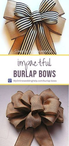 Diy Bow, Diy Ribbon, Ribbon Bows, Wreath Bows, Ribbons, Make A Wreath Bow, Tying Bows With Ribbon, Diy Wreath, Burlap Wreaths
