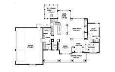 Tudor House Plan First Floor - 013D-0188 | House Plans and More