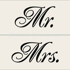Maison De Stencils - Mr. and Mrs. Stencils SKU:111 $28.00 5.5 X 11.5 inches