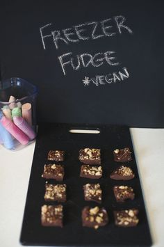 Freezer Fudge -- * vegan, made with coconut milk, walnuts, and delicious chocolate over at {never} homemaker