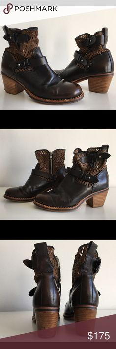 "RAG & BONE DARK BROWN WITH PERFORATED UPPER BOOTIE RAG & BONE DARK BROWN WITH PERFORATED UPPER BOOTIE WITH ZIP AT SIDE, SIZE 36, STACKED HEEL 2.5"", NO SIGNS OF WEAR ABOVE SOLE, GENTLY USED IN EXCELLENT CONDITION rag & bone Shoes Ankle Boots & Booties"