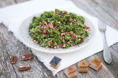 Mustard Quinoa, Cranberry & Kale Salad