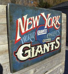 Rare & Unique  #  NY Giants sign by ZekesAntiqueSigns@Etsy #nyg