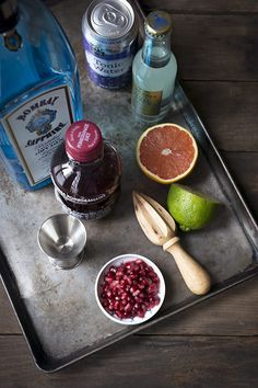 Pomegranate Gin and Tonics are a simple and romantic Valentine's Day cocktail! Pomegranate juice creates a beautiful red hue.