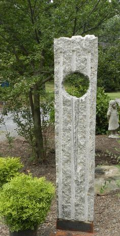 """Standing man"" granite garden sculpture by David Therriault  # stone sculpture #abstarct"