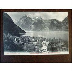 Switzerland Lake Lucerne Sisikon Urirotstock 434 vintage old Photoglob postcard Vierwaldstattersee