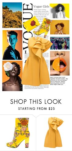 """""""Yellow like the sun"""" by gi1pierrezmoi ❤ liked on Polyvore featuring Angelo, Paul Mitchell and Loewe"""