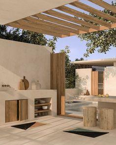 Dream Home Design, Home Interior Design, House Design, Outdoor Spaces, Outdoor Living, Outdoor Decor, Exterior Design, Interior And Exterior, Backyard Patio