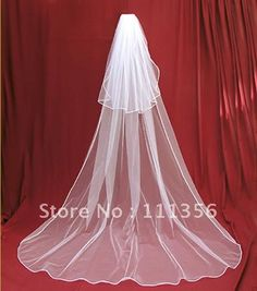 New 2T White / ivory Cathedral wedding veil bride Bridal Veil with comb bridal Accessories on AliExpress.com. $19.99