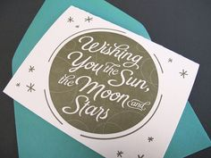 Wishing You the Sun the Moon and Stars  by OhHelloPrints on Etsy, $4.50