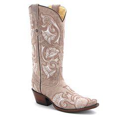 "Corral Vintage 12"" Floral Stitch Boot in Bone at Maverick Western Wear"